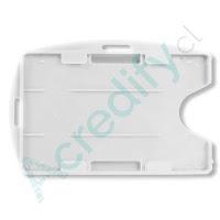 Porta credencial doble PVC blanco