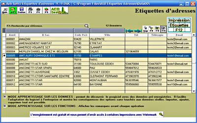 AEBSoft Etiquettes Adresses - Édition d'Étiquettes sur Windows
