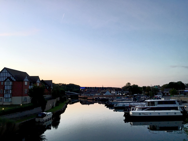 Northwich marina sunset