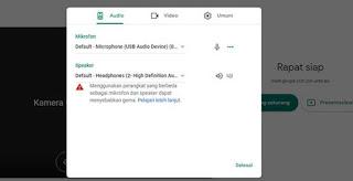 Cara Menyalakan Mic di Google Meet