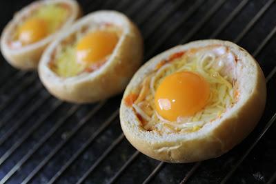 Preparación de huevos en nido
