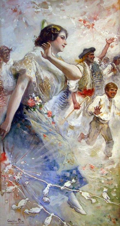 Cecilio Pla y Gallardo,  Retrato de Valenciana, Pintor Valenciano, Pintura Costumbrista Valenciana, Pintura Valenciana, Valencianas en pintura, Retratos de Cecilio Pla