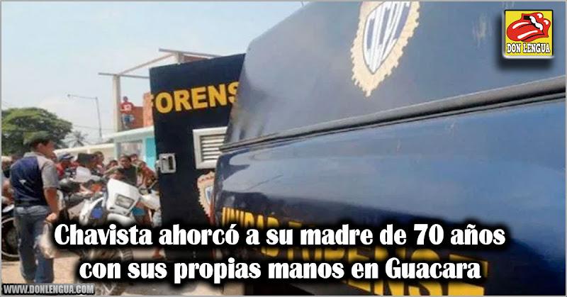 Chavista ahorcó a su madre de 70 años con sus propias manos en Guacara
