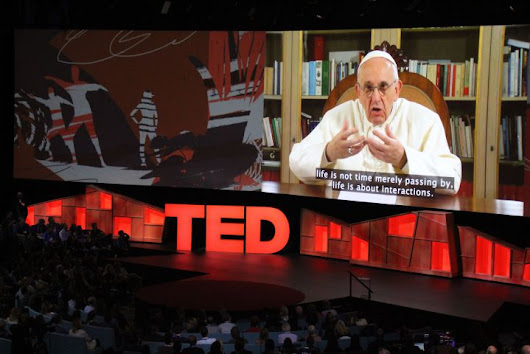 "Wow #PopeFrancis makes History giving the 1st ever Papal TED Talk - FULL TEXT + Video ""Hope is the door..."""