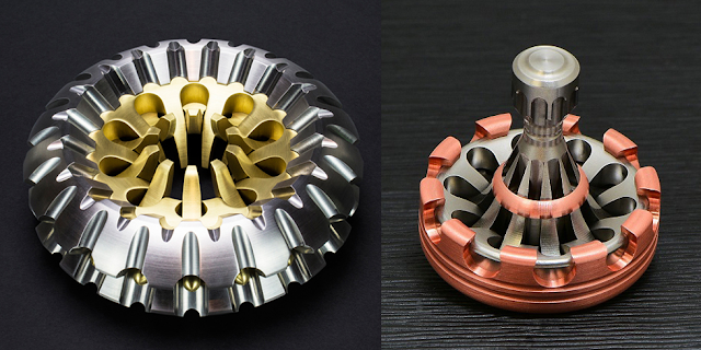 Tops, Spin tops, sculpture, cnc, art, Billet, spin