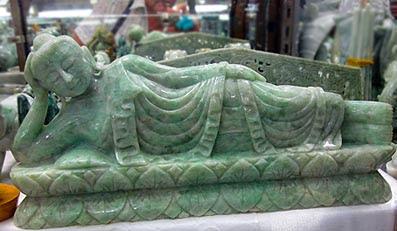 Burmese reclining jadeite Jade Buddha