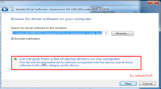 Let ME Pick From a List Of Device Drivers On My Computer
