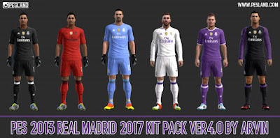 PES 2013 Real Madrid 2017 Kit Pack V4.0 By Arvin