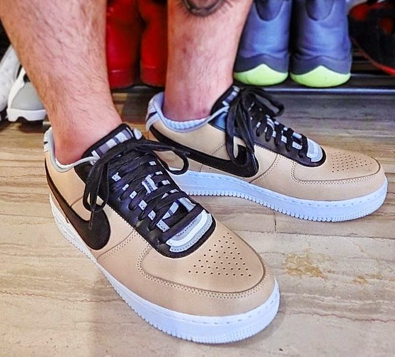 low priced 78dea 822db Here is images of the Riccardo Tisci x Nike Air Force 1 Low Tan RT Sneaker  hitting select retailers this winter, thoughts Peep more images after the  jump.