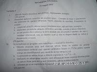 """Subiecte gradul II informatica Universitatea """"Ovidius"""" Constanta, august 2015"""