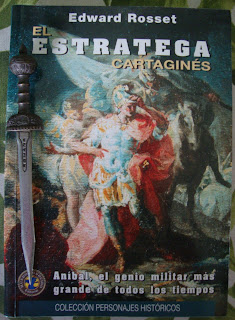 Portada del libro El estratega cartaginés, de Edward Rosset