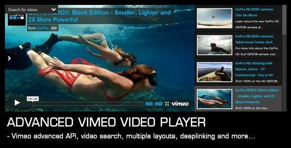 Advanced Vimeo Video Player