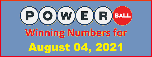 PowerBall Winning Numbers for Wednesday, August 04, 2021