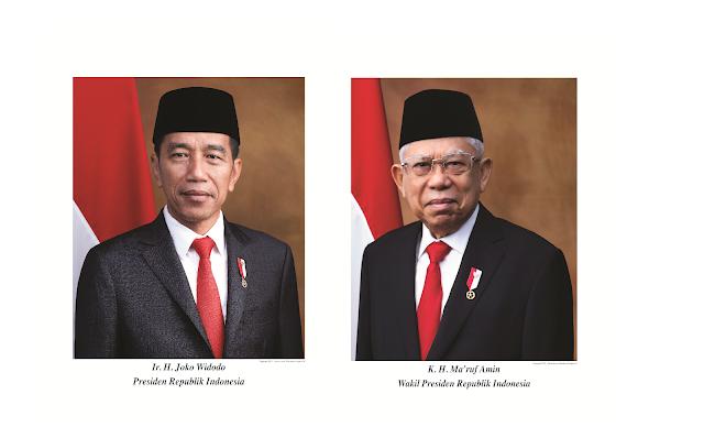 Foto Presiden dan Wakil Presiden periode 2019-2022