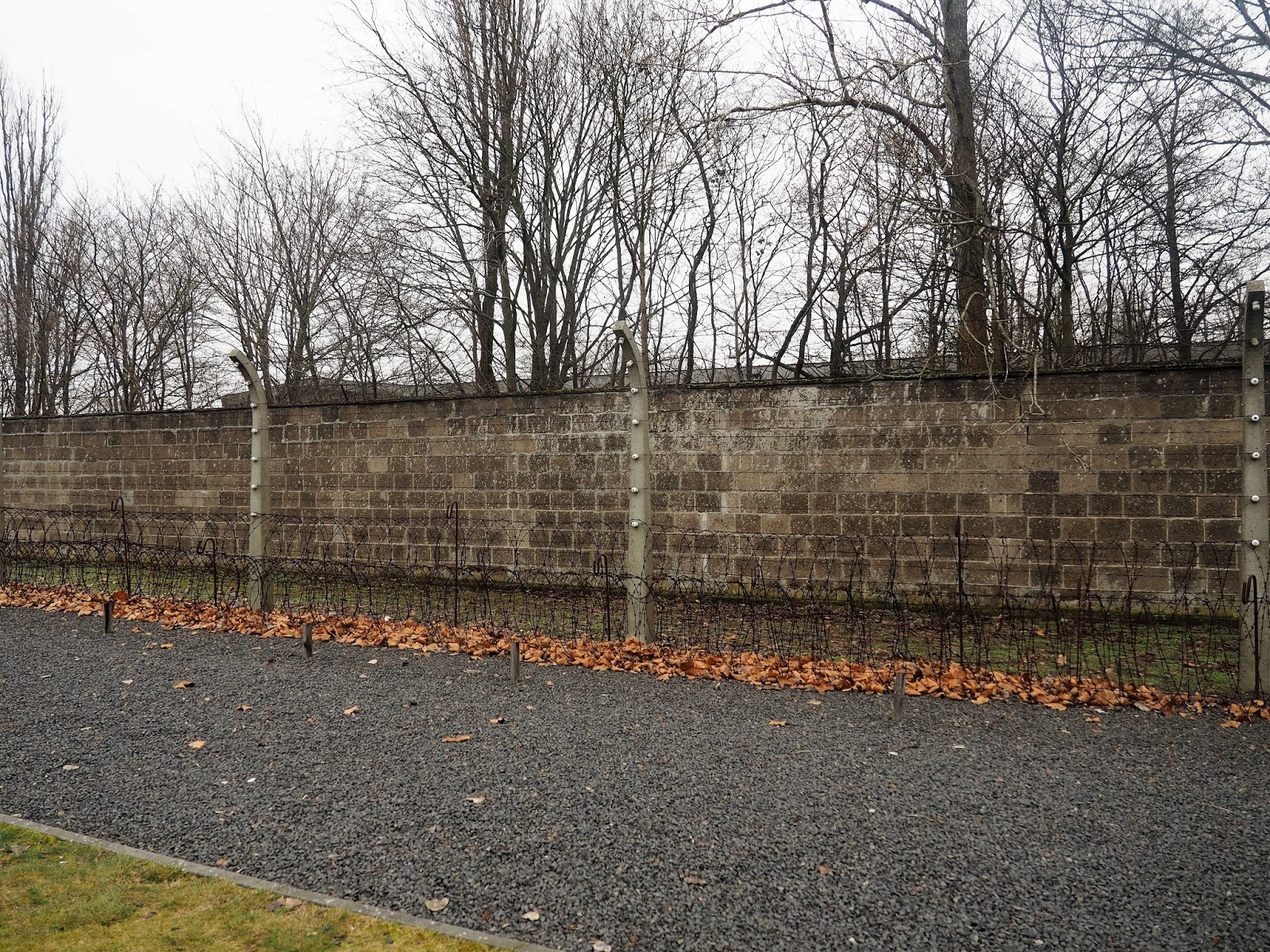 Sachsenhausen Concentration Camp barbed wire fence