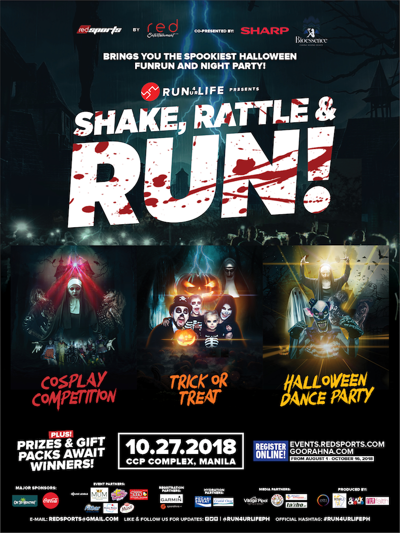 #Run4UrLife: Shake, Rattle, and Run happening this October 27, 2018!