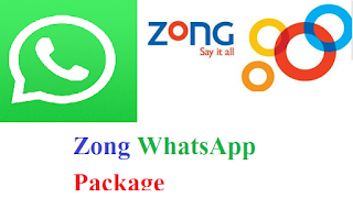 Zong Whatsapp Packages: Daily Weekly Monthly 2020