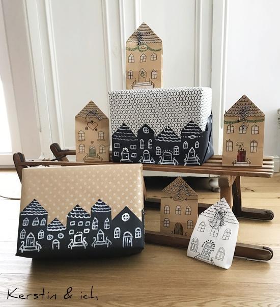 Weihnachten Geschenkverpackung Haus