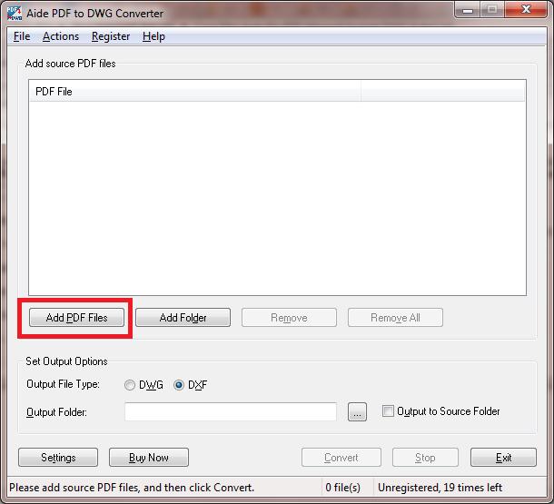Merubah file pdf ke dwg