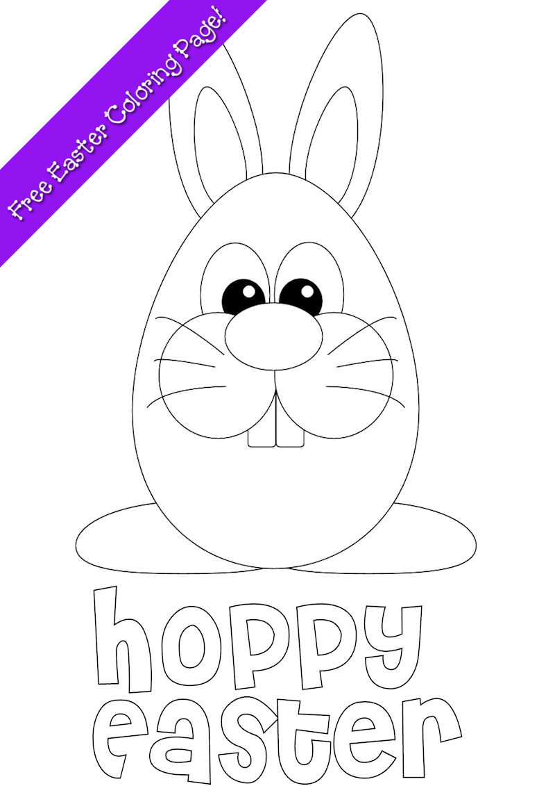 Easter Bunny Coloring Page - Free Printable