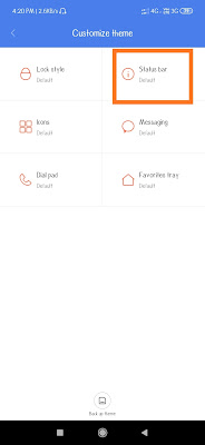 Change status layout in miui themes in redmi mobiles
