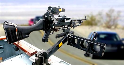 Remote Controlled Killer Robotic Machine Gun