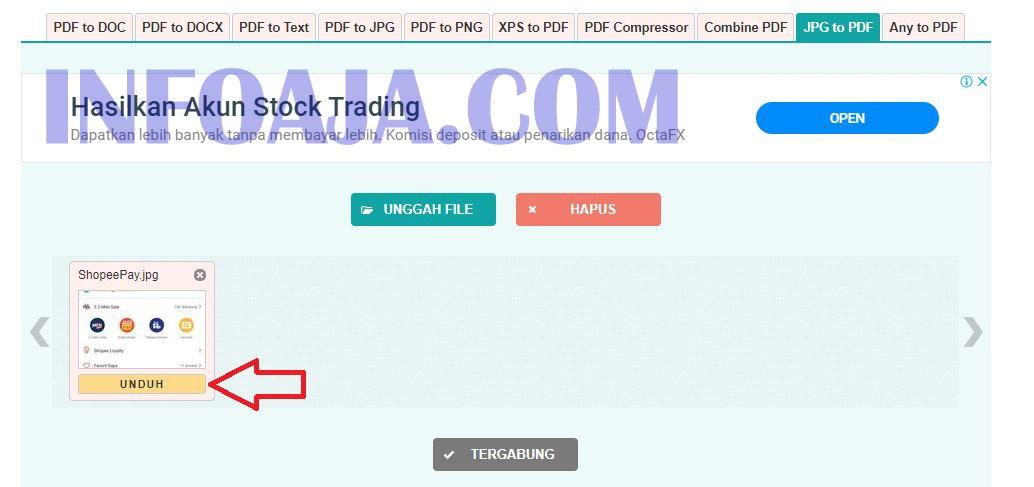 Cara convert JPG to PDF