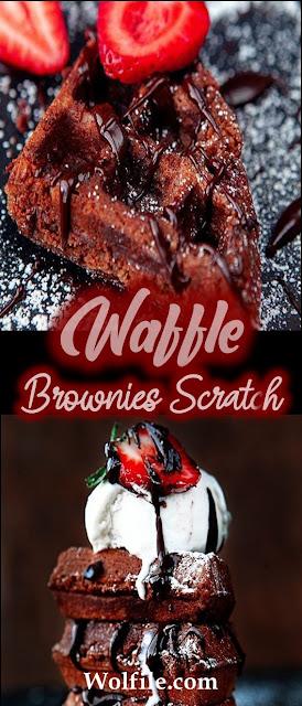 Waffle Brownies Scratch Recipe #Waffle #Cake #Brownies