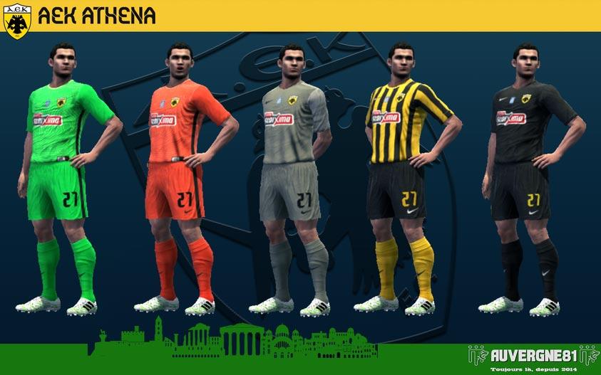 Kits AEK Athens 2021-2022 For PES 2013