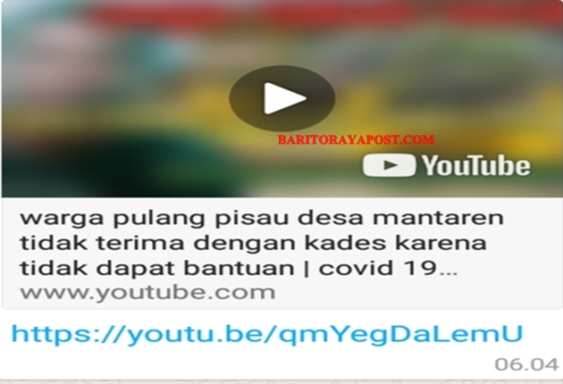 Alamak, Warga Mantaren II Protes Kades Lewat Youtube