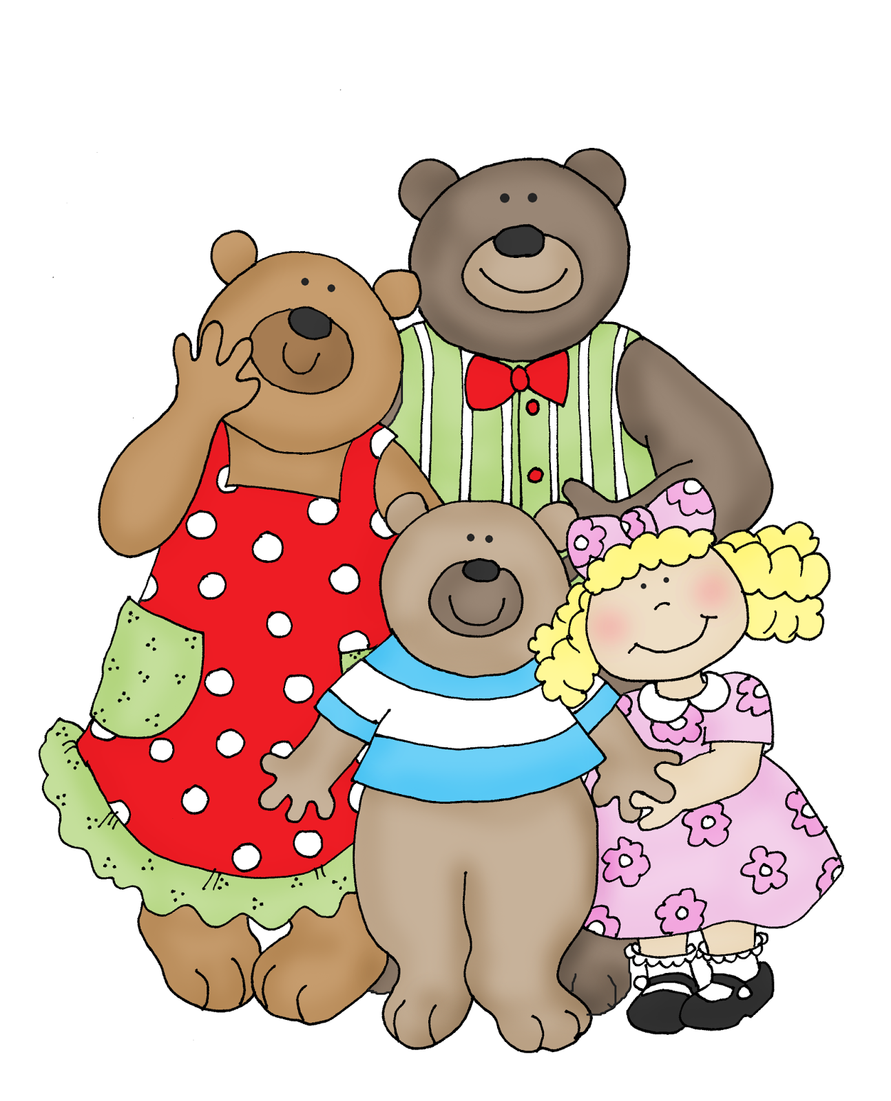 Free Dearie Dolls Digi Stamps Goldilocks And The Three Bears
