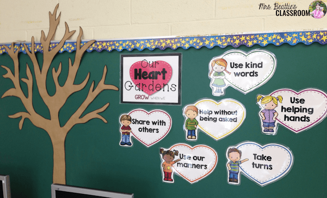 Photo of starting Heart Garden display