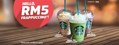 Starbucks Malaysia Frappuccino RM5 SweetSpot Visa Checkout Promo