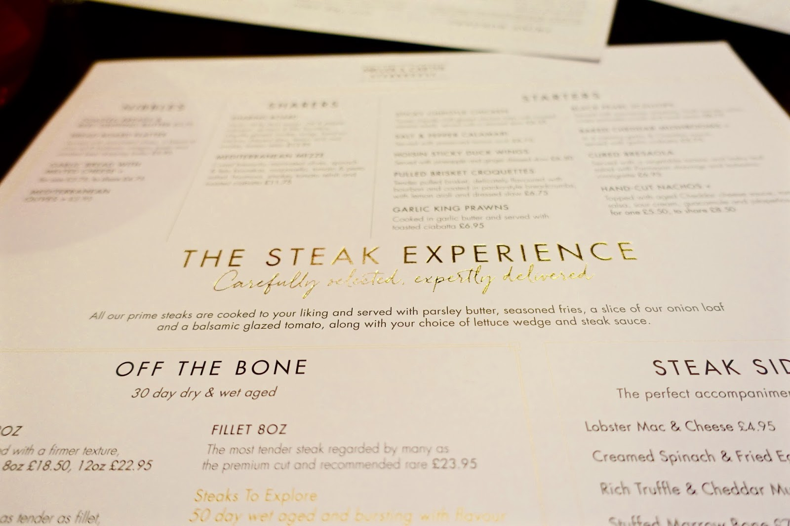 The steak experience at Miller and Carter