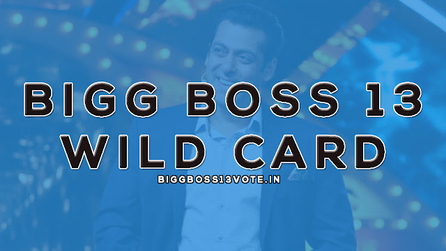 bigg boss 13 wild card entry
