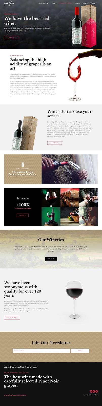 Wine Shop & Vineyard Template Kit