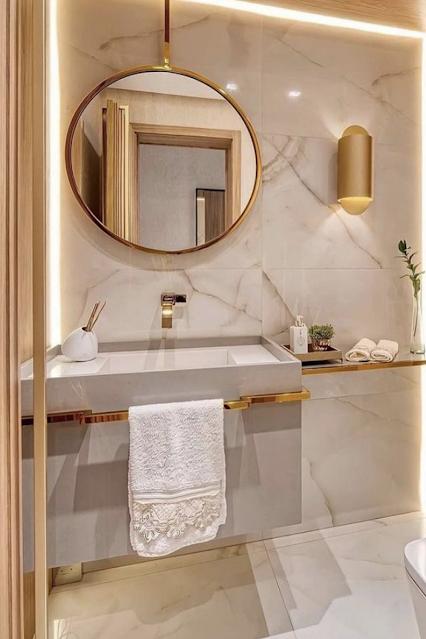banheiro planejado sob medida decoração classica
