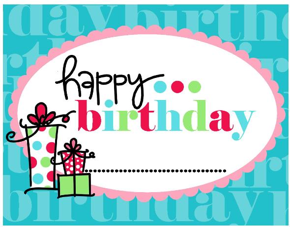 happy birthday printable cards slim image. Black Bedroom Furniture Sets. Home Design Ideas