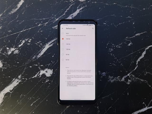 هاتف الألعاب ASUS ROG Phone 3 يوفر معدل تحديث 160 هيرتز