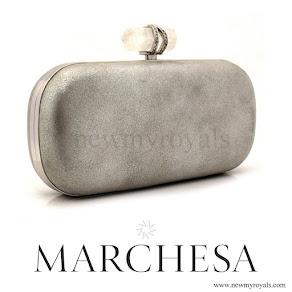 Marchesa Lily Silver Clutch - Princess Madeleine