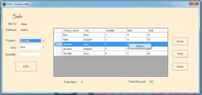 Delete Data Grid View Row
