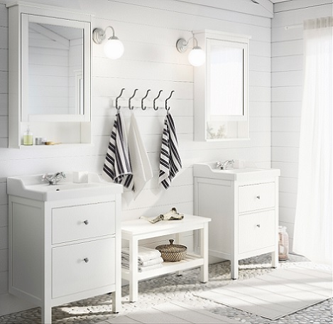 Decoraci n f cil ba os de ikea 2014 for Mueble hemnes ikea