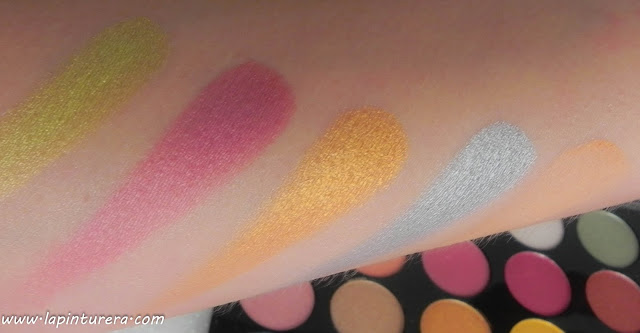 Paleta Exhilarate swatches 03