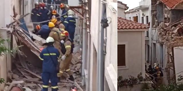 Τραγωδία στη Σάμο: Δυο παιδιά νεκρά - Καταπλακώθηκαν από τοίχο μετά τον σεισμό (βίντεο)