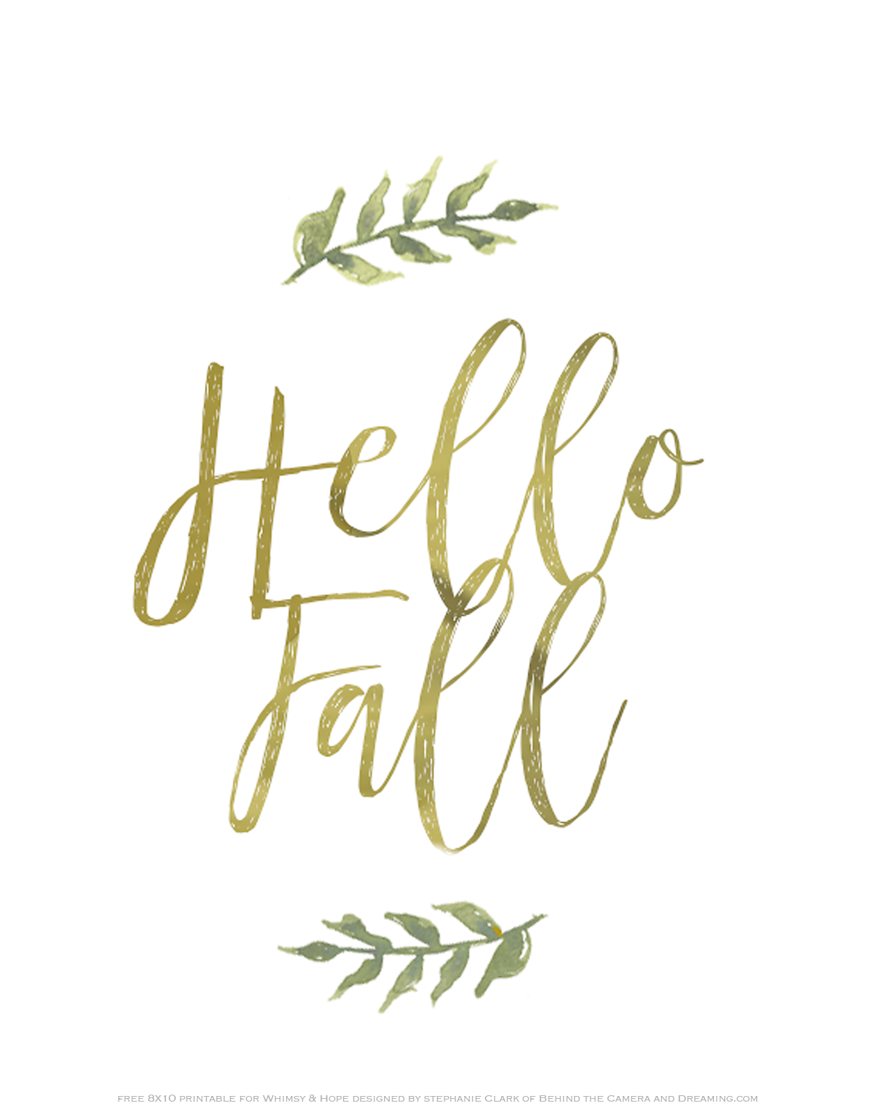 photograph about Printable Fall Pictures called Hi Drop Absolutely free Printable Sarah Halstead