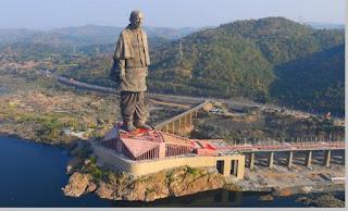 Statue of Unity, tinggi patung 182 meter, India - pustakapengetahuan.com