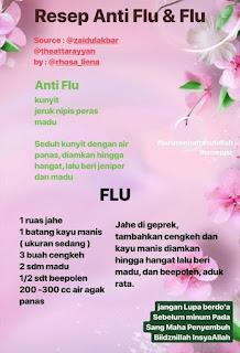 Resep JSR untuk Flu