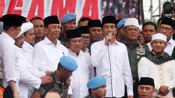 Peserta aksi bela islam III kecewa presiden jokowi tidak menyinggung kasus penistaan agama oleh ahok saat memberikan sambutan
