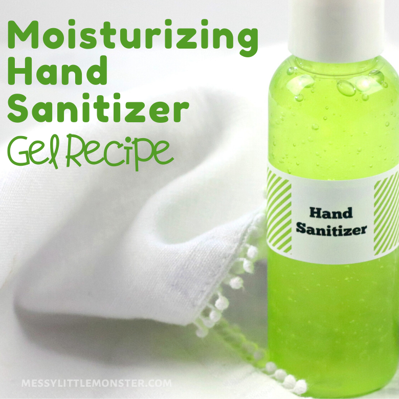 Homemade hand sanitizer recipe