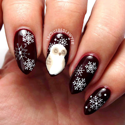Christmas Owl Nails